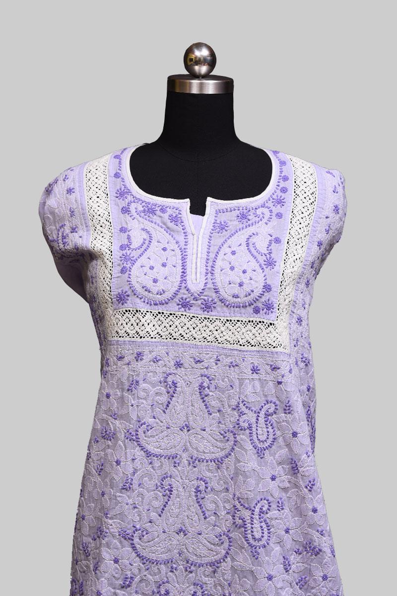 Light Lavender Cotton Full Suit