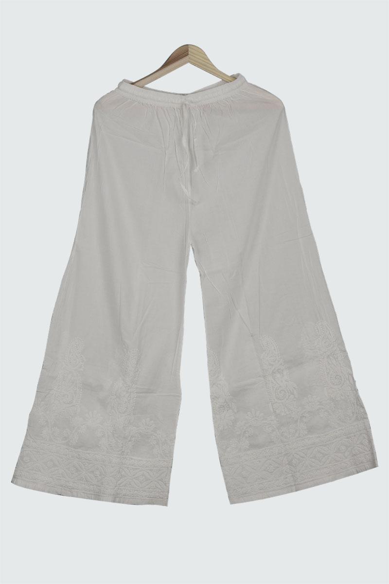 White Cotton Plazzo